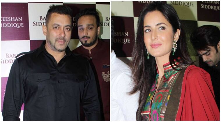 Salman Khan, salman Katrina, salman Iulia, Katrina Kaif, SRK SALMAN, SRK, Katrina salman pics, salman, baba siddique, salman khan at iftar party, baba siddique's iftar party, Salman Khan photos, amadan party, bollywood news, Salman Khan party, Salman Khan iftar party, entertainment news