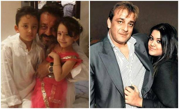 happy father's day, sanjay dutt kids, sanjay dutt, father's day, bollywood fathers, father's day wishes, father's day pics