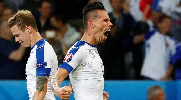 Slovakia has its next match against England on Monday at Saint-Etienne. (Source: Reuters)