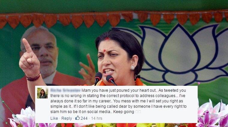 Karimganj: Union Minister for Human Resource Development, Smriti Irani addresses an election campaign rally in support of BJP candidates in Karimganj on Wednesday. PTI Photo (PTI3_30_2016_000116A)