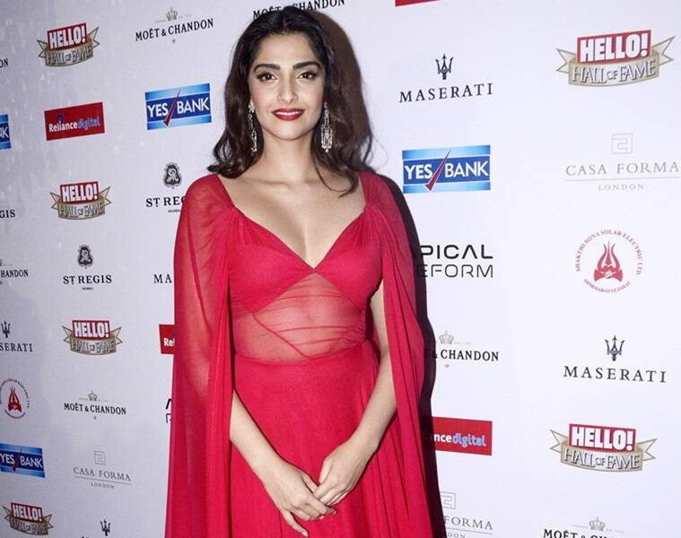 Sonam Kapoor abstains from drinking.