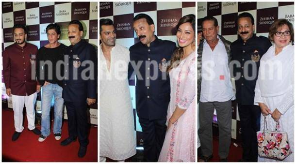 Shah Rukh Khan, Srk, salman khan, Katrina Kaif, Bipasha Basu, ankita lokhande, Karan Singh Grover, Salim Khan, Helen, salman Katrina, iftar party, Arpita, aayush, ahil, Elli Avram, baba siddique's iftar party, entertainment photos