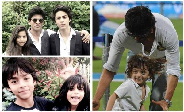happy father's day, father's day, bollywood fathers, father's day wishes, father's day pics, Shah Rukh Khan, aaryan khan, suhana khan, Shah Rukh Khan kids, srk kids, entertainment photos