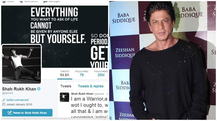 Shah Rukh Khan, srk, twitter followers, srk 20 million followers, Shah Rukh Khan twitter, ark twitter fans, srk films, srk upcoming films, srk news, bollywood highest twiiter follwers, srk twiiter follwers, entertainment news