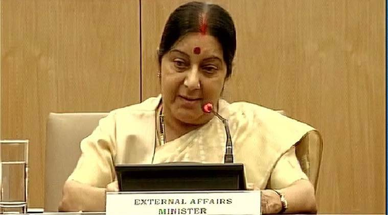 Sushma Swaraj, Nigeria, indians nigeria, 2014 indians arrested nigeria, nigeria captured indians released, indian released, ministry of external affairs, mea india, swaraj indians nigeria release, india news, latest news, nigeria news