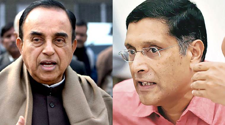 Subramanian Swamy, Arvind Subramanian, Raghuram Rajan, news, RBI, RBI governor, news, india news, politics, BJP, finance Ministry, IPR, IPR policy