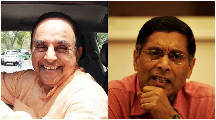 swamy, subramanian swamy, arvind subramanian, india cea, india chief economic adviser, chief economic adviser india, subramanian swamy tweets, subramanian swamy twitters, india news