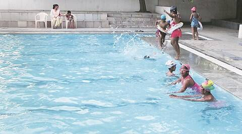 chandigarh, chandigarh news, newsline, chandigarh swimming pools, safety equipments, swimming safety equipments, mohali administration, indian express news