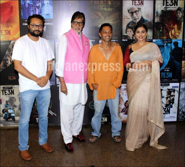 Amitabh Bachchan, Vidya Balan, Te3n, te3n movie, Amitabh Bachchan vidya balan, Amitabh Bachchan te3n, vidya balan te3n, te3n press meet, Big B, Big B Vidya Balan, Sujoy Ghosh, Rubhu Dasgupta, te3n press conference