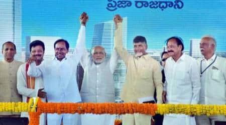 Telangana, narendra modi, Kalvakuntla Chandrashekar Rao, kcr telangana, telangana statehood day, Telangana two years, second statehood day, Narendra Modi, prime minister Narendra Modi, Modi tweets, Twitter, tweet, Modi Telangana, K Chandrasekhar Rao, KCR, Andhra Pradesh Reorganisation Act 2014, Andhra Pradesh Reorganisation Act, Hyderabad, National News, India News, latest news