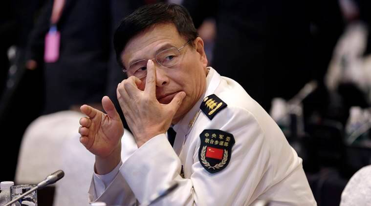 In Photo: China's Deputy Chief of Central Military Commission, Sun Jianguo, at the 15th International Institute for Strategic Studies Shangri-la Dialogue in Singapore. (AP Photo/Wong Maye-E, File)