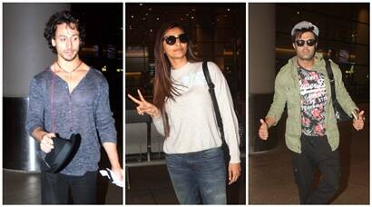 Tiger Shroff, Daisy Shah, Manish Paul return from IIFA