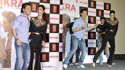 Tiger Shroff, rumoured girlfriend Disha Patani steal the limelight at Befikra launch, see pics