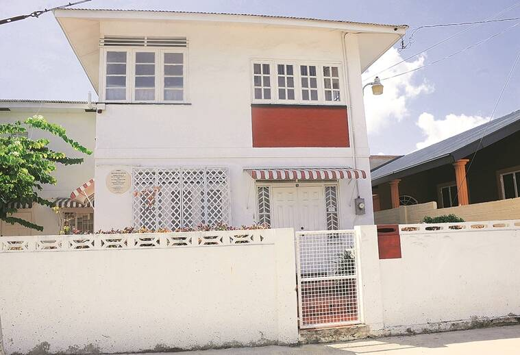 The Naipaul home in Trinidad
