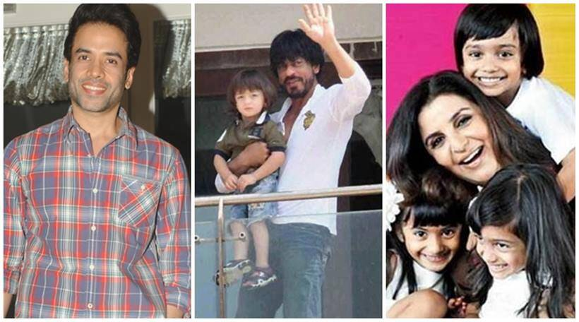 Tusshar Kapoor, Tusshar Kapoor father, ABRAM, shah rukh khan, aamir khan, surrogacy, surrogacy parents, farah khan, surrogacy fathers in bollywood, surrogacy in bollywood, aamir son, Sohail Khan, Michael Jackson, Michael Jackson kid, Sohail Khan son, SRK ABRAM, srk, srk son, Tusshar Kapoor baby, tushar, entertainment photos