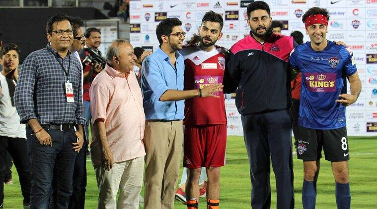 Virat Kohli, Virat Kohli foundation, Virat Kohli charity, charity match, Virat Kohli, Abishek Bachchan, sports news, sports, cricket news, Cricket