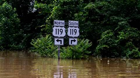 us, us flood, west virginia, west virginia floods, elk river, elk river floods, virginia floods, national weather service, west virginia news, us news, world news