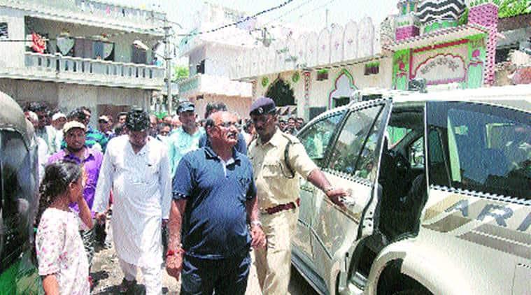 Municipal Commissioner H S Patel in Vadodara on Friday. Bhupendra Rana