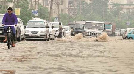 Monsoon, waterlogged roads, waterlogged gurgaon, waterlogging areas in Gurgaon, Municipal Corporation of Gurgaon, Delhi News