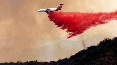 California, California wildfire, wildfires, California's scenic Central Coast, Los Angeles County, South Coast Air Quality Management, Santa Clarita, Sand Canyon area, Angeles National Forest, US news, America news, Natural hazards news, World news, International news,