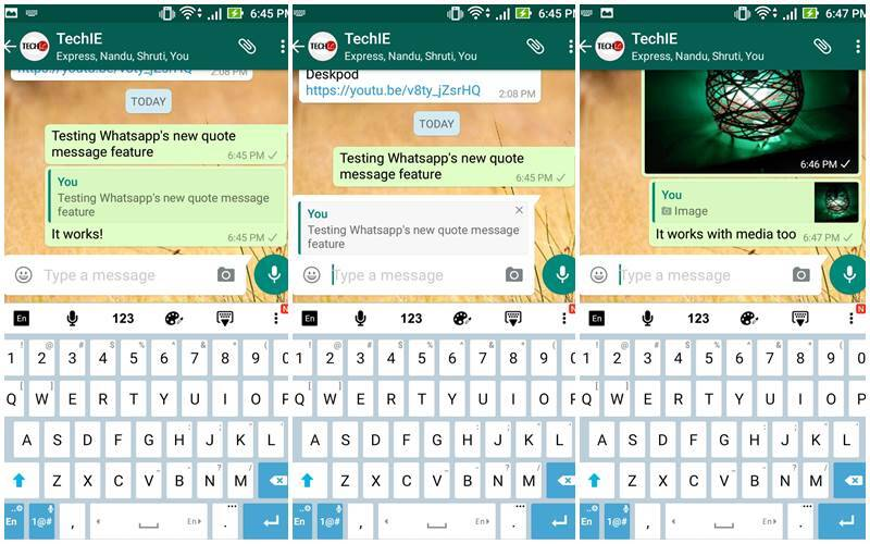 WhatsApp for Android to get message quotes feature: Here\u0027s how it