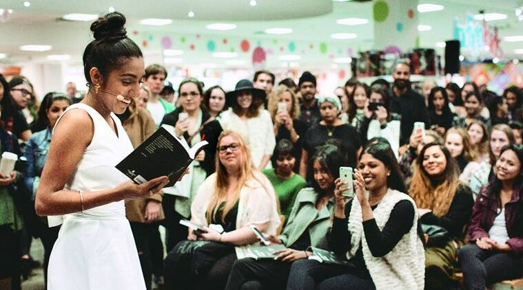 Stop the shame: Rupi Kaur at a performance in Canada.