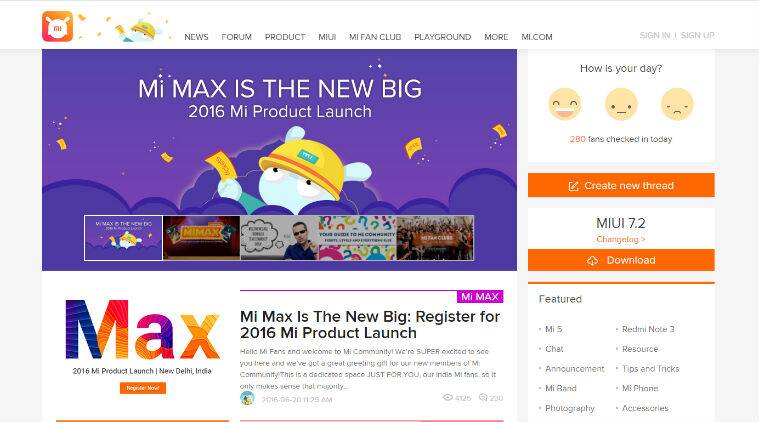 Xiaomi, Xiaomi Mi Max, Mi Community, Mi Max India, Mi Max launch, Xiaomi Mi Max features, Xiaomi Mi Max specifications, Xiaomi Mi Max price, smartphones, Android, technology, technology news