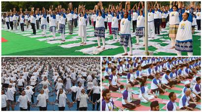 International Yoga Day 2016: PM Modi, ministers participate with thousands across India