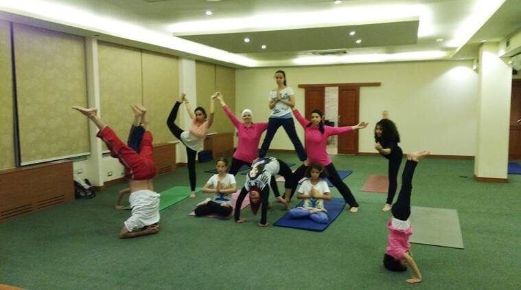 Stretch like an egyptian: Students at the Maulana Azad Centre for Indian Culture in Cairo.