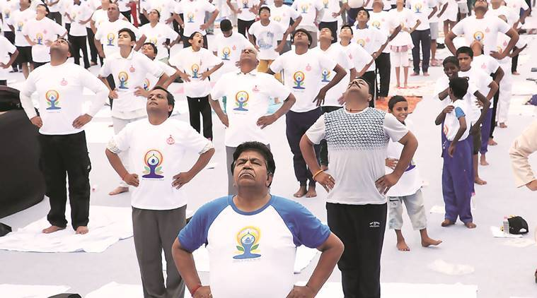 international yoga day, narendra modi, narendra modi international yoga day, yoga religious activity, health assurance yoga, international yoga day speech, narendra modi speech, chandigarh yoga day, india news