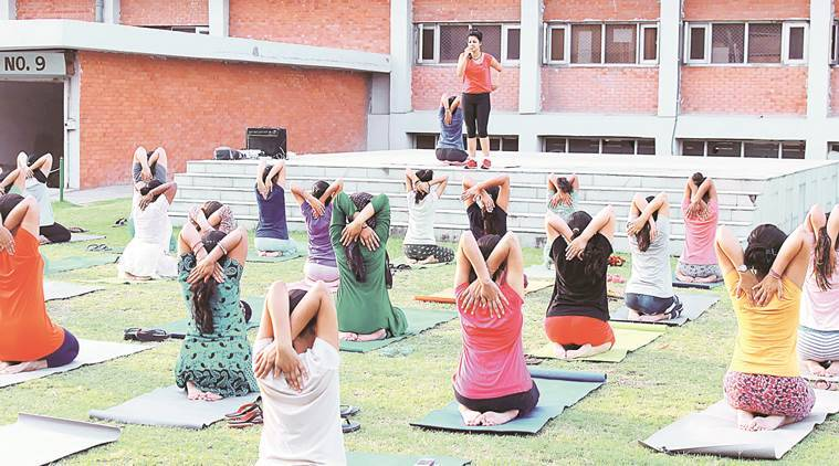 Chandigarh, International Yoga Day, Dress rehearsal for international Yoga Day, Chandigarh News, latest news, India news, Chandigarh yoga day preparation, Yoga day,