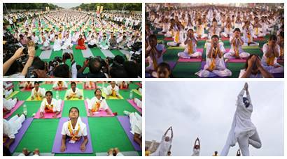Ramdev leads rehearsals for International Yoga Day