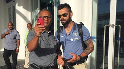 India vs West Indies: Team India reach Antigua for first Test, see pics