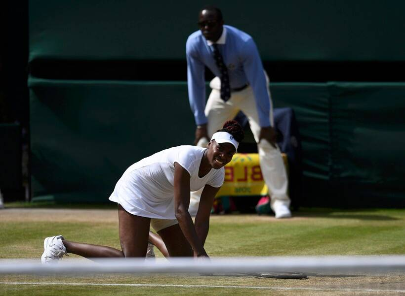 USA's Venus Williams in action against Germany's Angelique Kerber. (Source: Reuters)