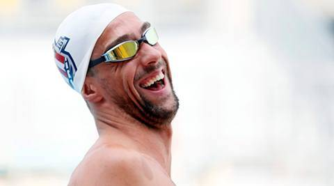 Team USA swimmer Michael Phelps prepares to swim laps in San Antonio