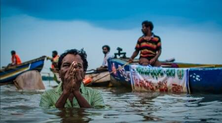 lthough, it is river Krishna pushkaralu, the water that will be released for pilgrims to take a holy dip downstream of the Prakasam Barrage at Vijayawada is technically from river Godavari.