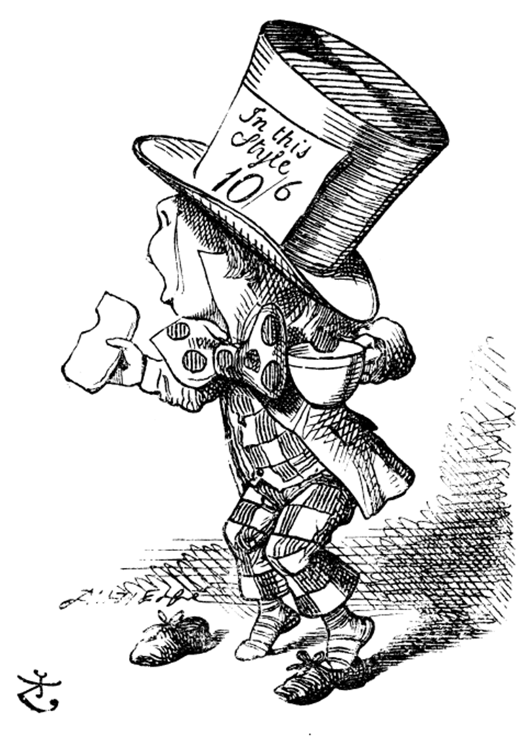 6. The mad hatter (wikipedia) png