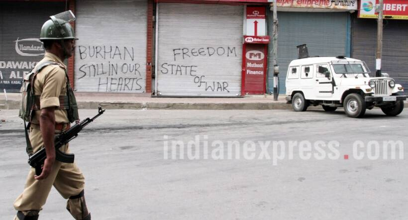 Kashmir, Kashmir violence, armed forces, Kashmir curfew, curfew, curfew in Kashmir, Jammu and kashmir, jammu and kashmir curfew, separatists, Kashmir protests, Kashmir valley, Burhan Wani, Kashmir photos, Kashmir protest photos, jammu & kashmir photos, Kashmir protest photo gallery