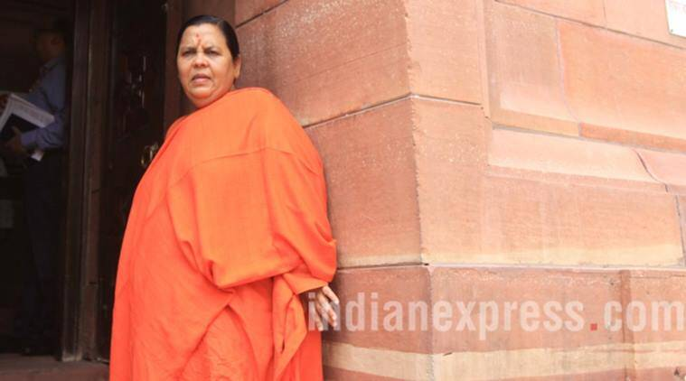 Uma Bharti, uma bharti arrest, uma bharti defamation, Digvijaya Singh, Bhubhaskar Yadav, Harish Mehta, news, latest news, India news, national news