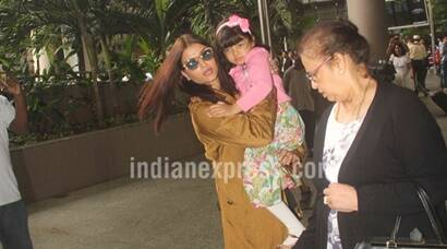Aishwarya Rai Bachchan's mother falls during a scuffle with media at the airport