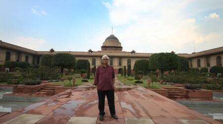 As part of the Rashtrapati Bhavan's 'In-Residence' programme, which is aimed at providing writers and artists an opportunity to stay in the Raisina Hill, eminent author Amitav Ghosh would stay in the President's House from Sunday till Thursday.  Express photo by Renuka Puri 13 july 2016
