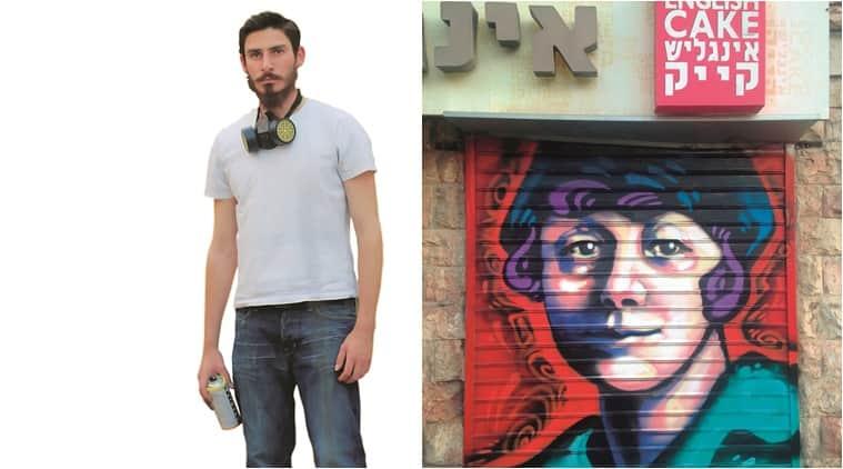 Solomon Souza; a graffiti by the artist in Jerusalem (Courtesy: Berel Hahn & Solomon Souza)