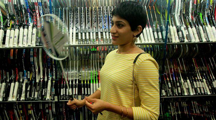 Ashwini Ponnappa Indian Badminton Player who won the Canada open 2015 womens double during meet and greet the fans at Dadar on Sunday. Express Photo by Kevin D'Souza. 05.07.2015. Mumbai.