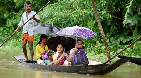 Assam, Assam floods, Assam rains, Brahmaputra inundating, ASDMA, relief camps, Assam floods worsened, Assam rains news, Assam news, India news
