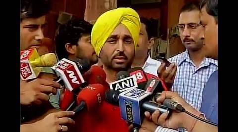bhagwant mann, bhagwant mann suspended, bhagwant mann video, parliament video, bhagwant mann parliament video, bhagwant mann video issue