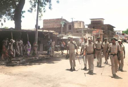 bhojpur, bhojpur communal tension, prophet mohammad, anti prophet post, communal tension bhojpur, stone pelting bhojpur, india news