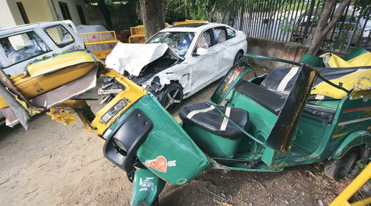 Chandigarh auto accident, chandigarh road safety, chandigarh accidents, chandigarh news, indian express news