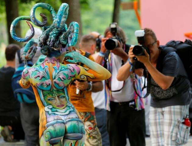Living Art Stunning Photos Of Models Wearing Paint At World Bodypainting Festival The Indian Express Page 12