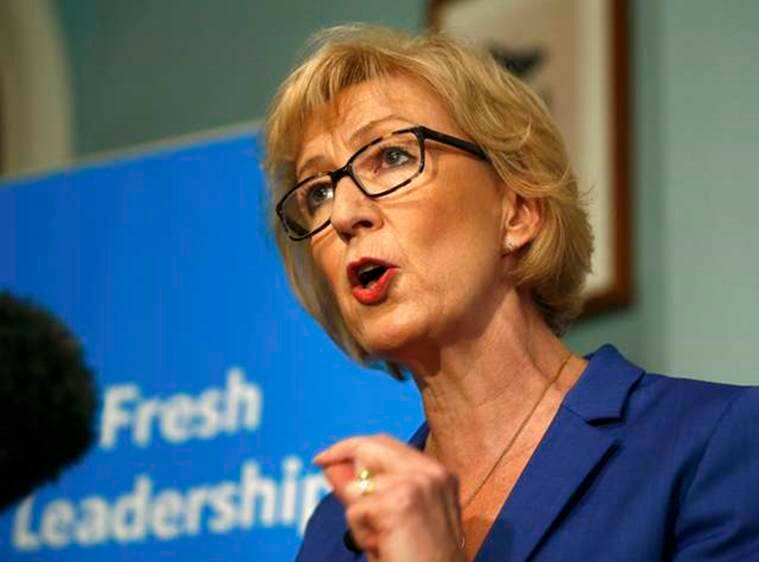 Andrea Leadsom, a candidate to succeed David Cameron as British prime minister, speaks at a news conference in central London, Britain July 4, 2016. REUTERS/Peter Nicholls