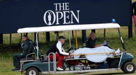 British Open, British Open Golf, British Open caddie, British Open caddie accident, British Open caddie hit, Sports, Golf News, Golf